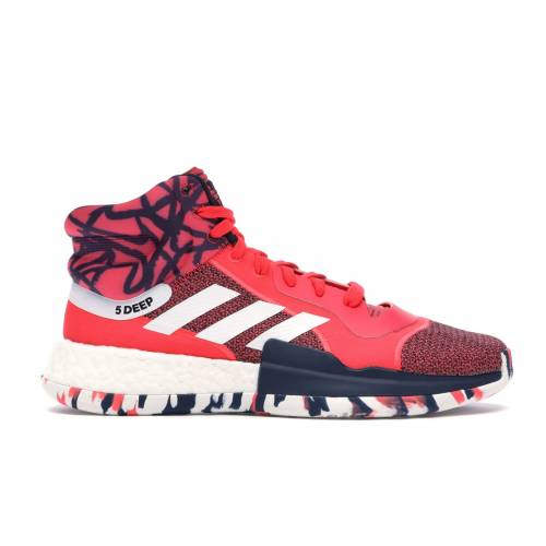 アディダス ADIDAS ブースト スニーカー 【 MARQUEE BOOST JOHN WALL SHOCK RED FOOTWEAR WHITE CORE NAVY 】 メンズ 送料無料