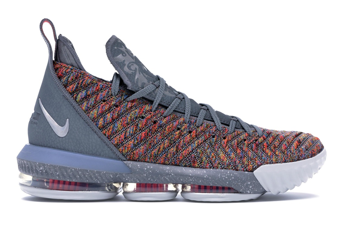 ナイキ NIKE レブロン スニーカー 【 LEBRON 16 MULTICOLOR METALLIC SILVERCOOL GREY 】 メンズ