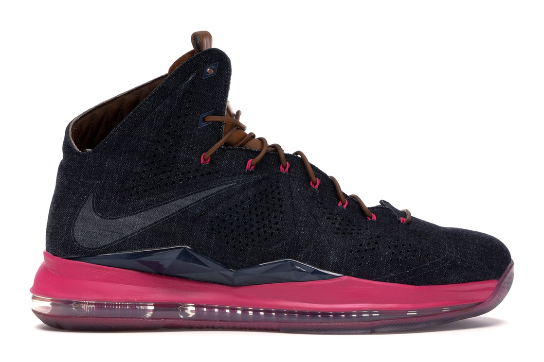 ナイキ NIKE レブロン スニーカー 【 LEBRON X EXT DENIM MIDNIGHT NAVY NAVYHAZELNUTFIREBERRY 】 メンズ 送料無料