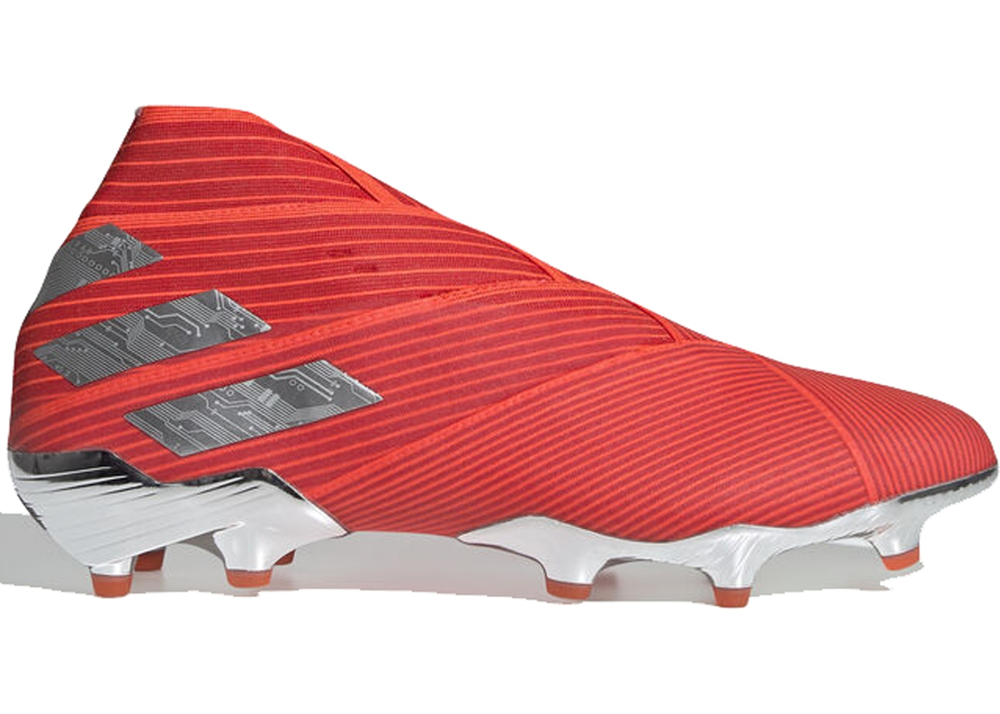 アディダス ADIDAS 19+ スニーカー 【 NEMEZIZ FIRM GROUND CLEAT ACTIVE RED SILVER METALLIC SOLAR 】 メンズ