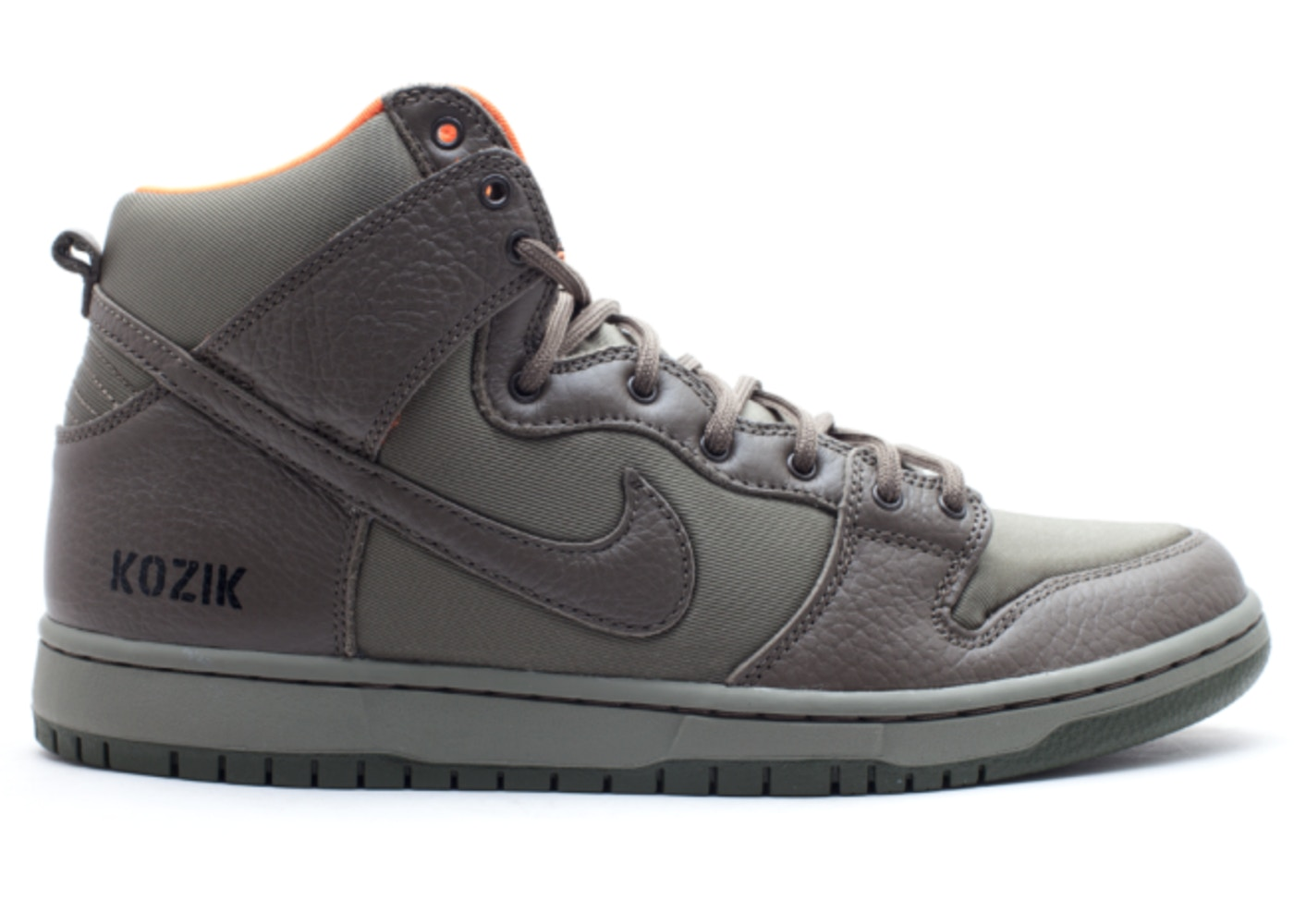 ナイキ NIKE ダンク エスビー ハイ スニーカー 【 SB DUNK HIGH FRANK KOZIK STEEL GREEN OLIVE KHAKISAFETY ORANGE 】 メンズ