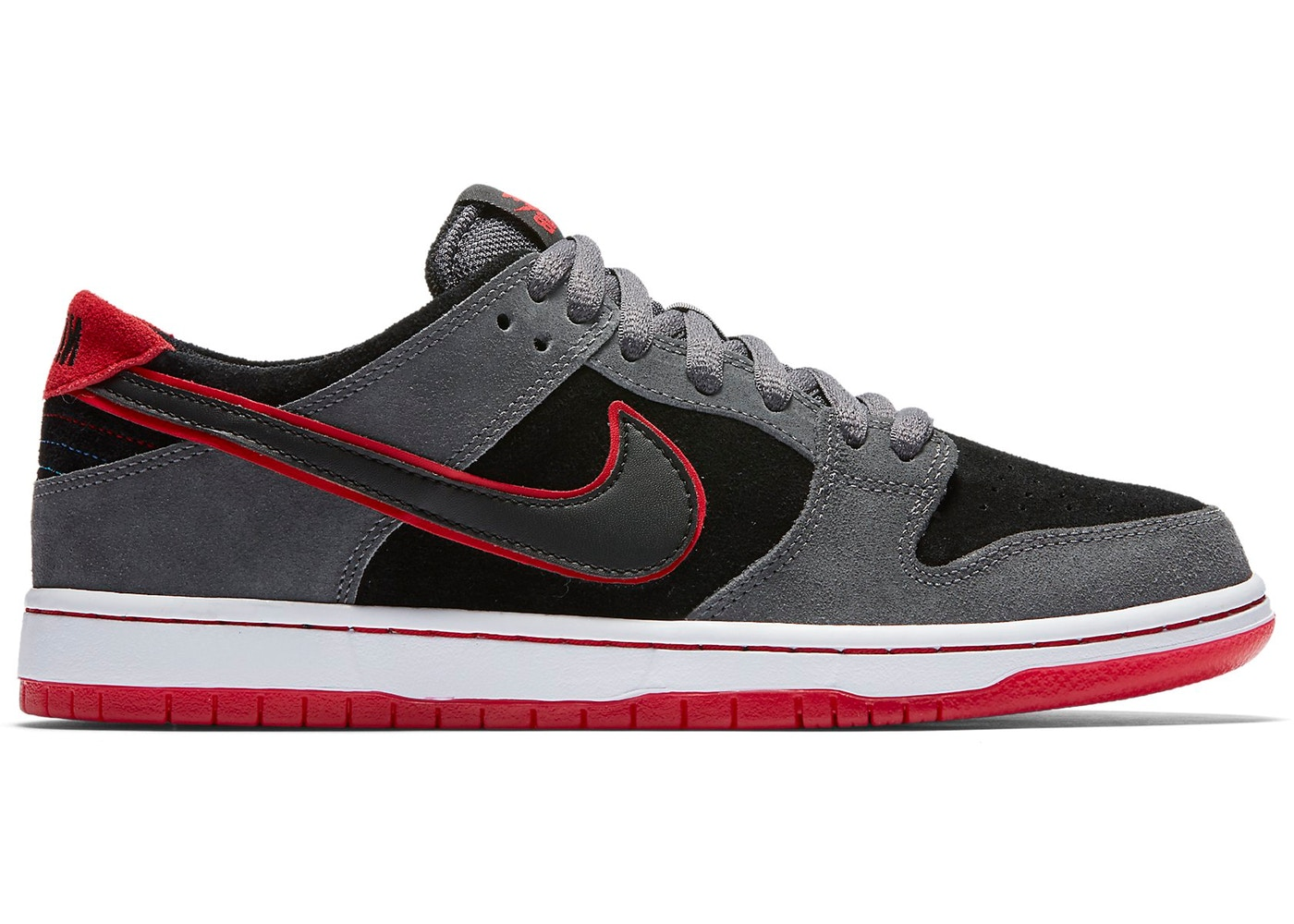 ナイキ NIKE エスビー ダンク スニーカー 【 SB DUNK LOW ISHOD WAIR DARK GREY UNIVERSITY REDWHITEBLACK 】 メンズ