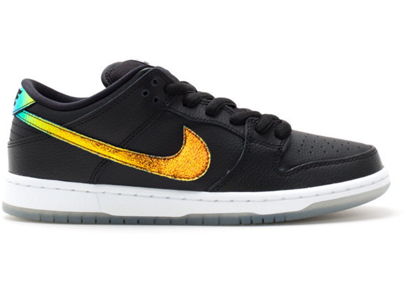 ナイキ NIKE ダンク エスビー スニーカー 【 SB DUNK LOW SPARKLE OIL SPILL BLACK WHITE MULTICOLOR 】 メンズ
