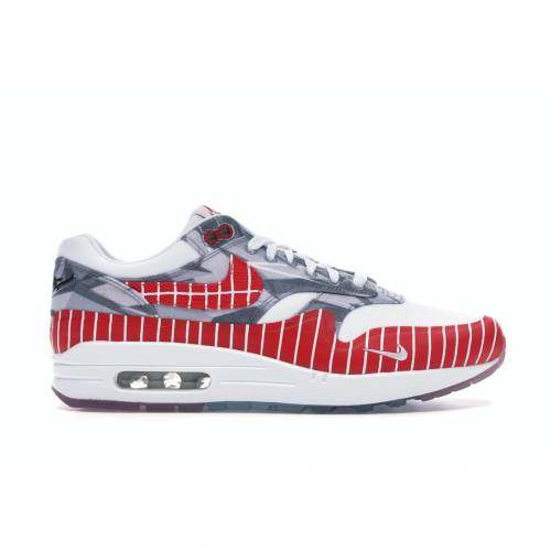 ナイキ NIKE エア マックス スニーカー 【 AIR MAX 1 X WASAFU LOS PRIMEROS WHITE UNIVERSITY REDNEUTRAL GREY 】 メンズ