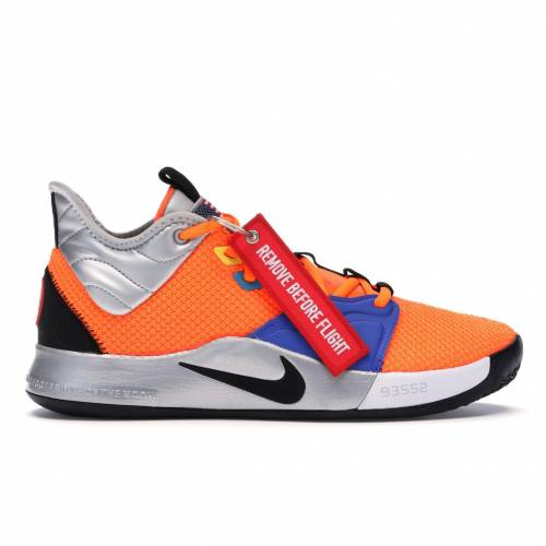 ナイキ NIKE スニーカー 【 PG 3 NASA TOTAL ORANGE BLACKMETALLIC SILVER 】 メンズ
