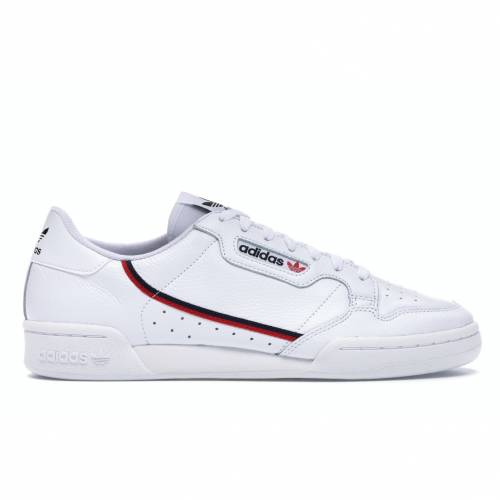アディダス ADIDAS 白 ホワイト スニーカー 【 WHITE CONTINENTAL 80 SCARLET NAVY CLOUD COLLEGIATE 】 メンズ