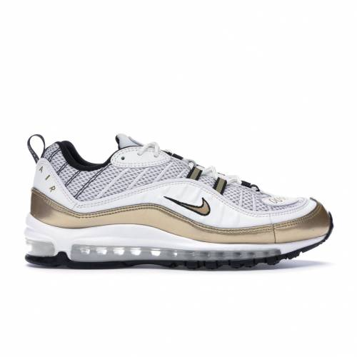 ナイキ NIKE エア マックス スニーカー 【 AIR MAX 98 HYPERLOCAL UK WHITE METALLIC GOLDBLACK 】 メンズ