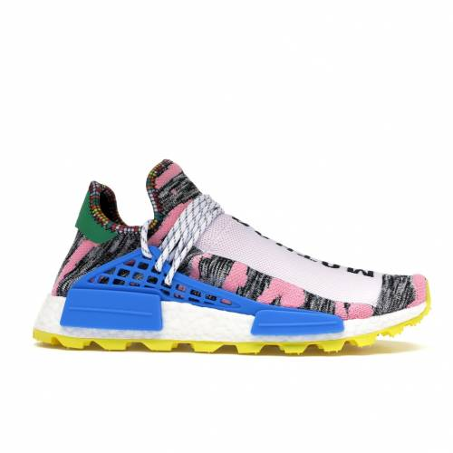 アディダス ADIDAS スニーカー 【 NMD HU PHARRELL SOLAR PACK MOTHER WHITE PINK YELLOW 】 メンズ