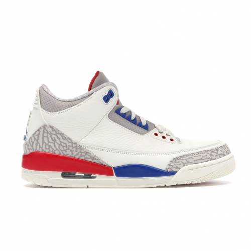 ナイキ ジョーダン JORDAN スニーカー 【 3 RETRO INTERNATIONAL FLIGHT SAIL SPORT ROYALLIGHT BONEFIRE RED 】 メンズ