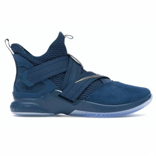 ナイキ NIKE レブロン ズーム ソルジャー スニーカー 【 ZOOM LEBRON SOLDIER 12 AGIMAT BLUE FORCE METALLIC GOLDAGEAN STORM 】 メンズ