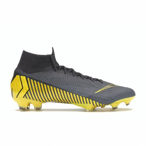 ナイキ NIKE エリート サンダー スニーカー 【 MERCURIAL SUPERFLY 6 ELITE FG THUNDER GREY DARK YELLOW 】 メンズ