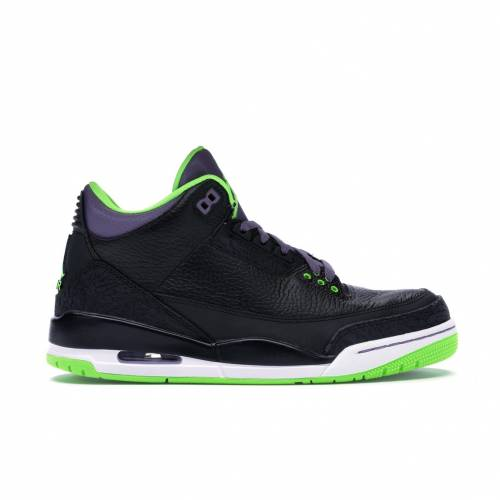 ナイキ ジョーダン JORDAN スニーカー 【 3 RETRO JOKER BLACK ELECTRIC GREEN CAYANNE PURPLE WHITE 】 メンズ
