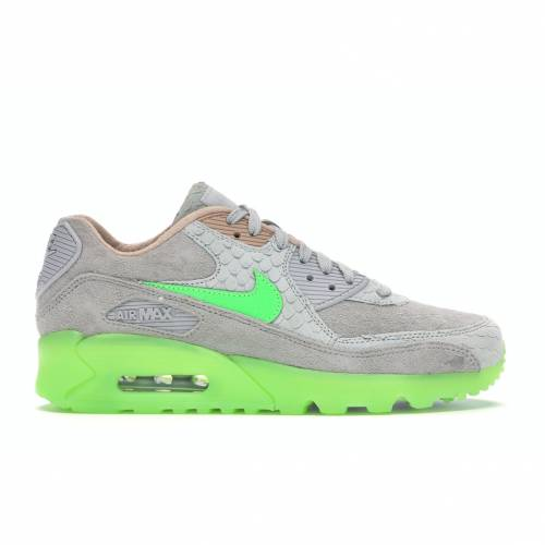 ナイキ NIKE エア マックス スニーカー 【 AIR MAX 90 NEW SPECIES PURE PLATINUM ELECTRO GREENBIO BEIGE 】 メンズ