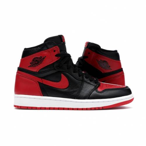 ナイキ ジョーダン JORDAN ハイ スニーカー 【 1 RETRO HIGH HOMAGE TO HOME NONNUMBERED BLACK UNIVERSITY REDWHITE 】 メンズ