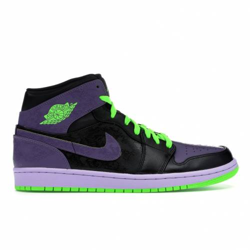 ナイキ ジョーダン JORDAN ナイト スニーカー 【 1 RETRO NIGHT VISION JOKER BLACK ELECTRIC GREENCANYON PURPLEPURE VIOLET 】 メンズ