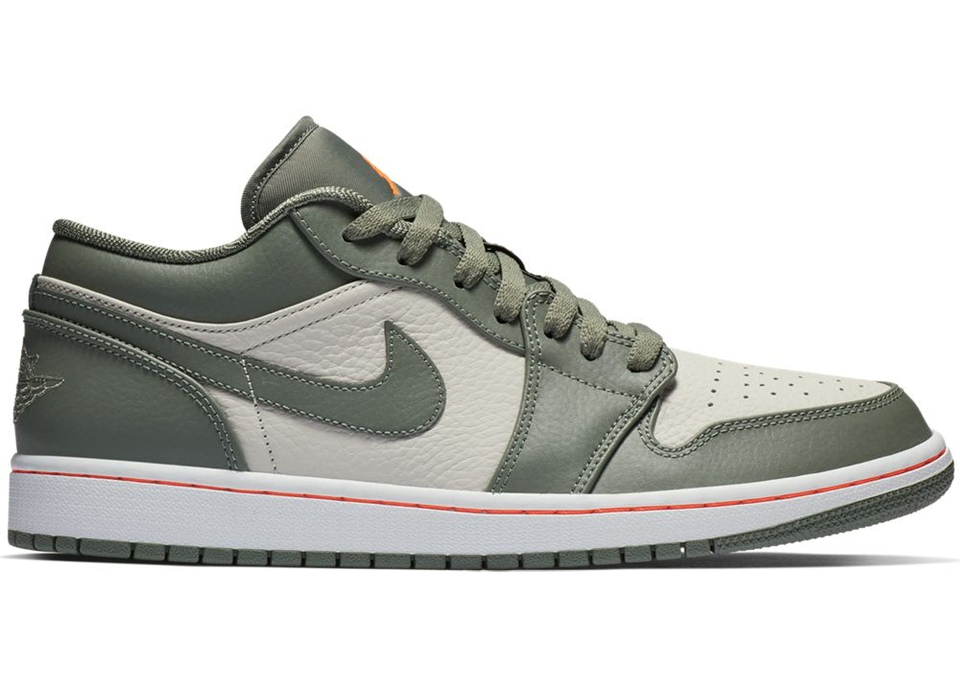 ナイキ ジョーダン JORDAN スニーカー 【 1 LOW MILITARY GREEN WHITE HYPER CRIMSONLIGHT BONEVINTAGE LICHEN 】 メンズ 送料無料