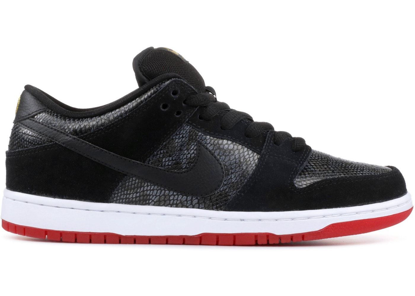 ナイキ NIKE ダンク エスビー スニーカー 【 SB DUNK LOW SNAKE EYES BLACK BLACKUNIVERSITY RED 】 メンズ