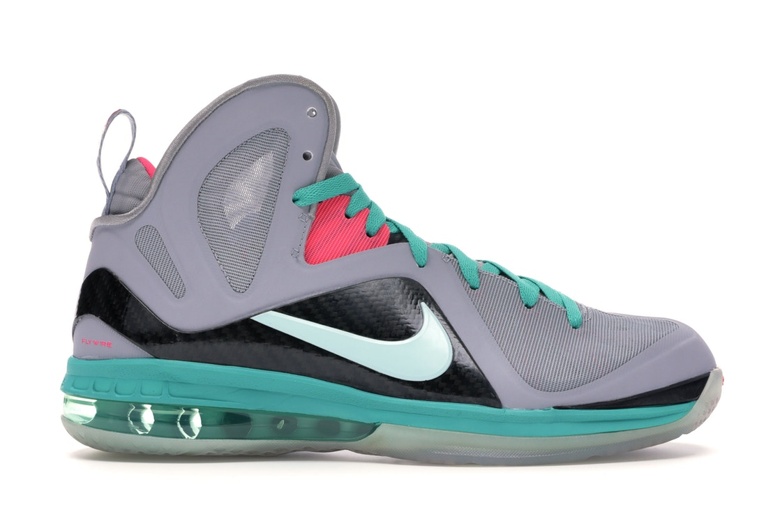 ナイキ NIKE レブロン エリート スニーカー 【 LEBRON 9 PS ELITE SOUTH BEACH WOLF GREY MINT CANDYNEW GREENPINK FLASH 】 メンズ