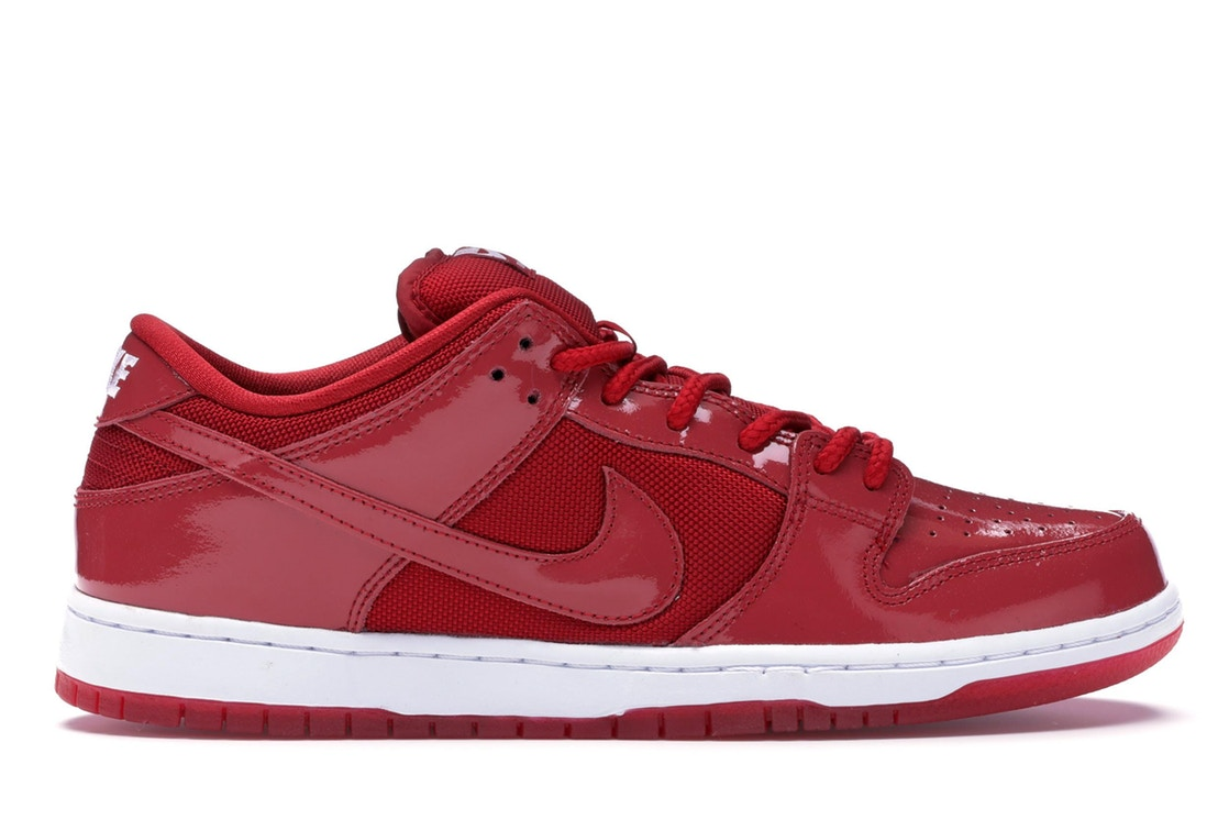 【NeaYearSALE1/1-1/5】ナイキ NIKE ダンク エスビー 赤 レッド パテント スニーカー 【 SB RED DUNK LOW PATENT LEATHER VARSITY WHITEVARSITY 】 メンズ 送料無料