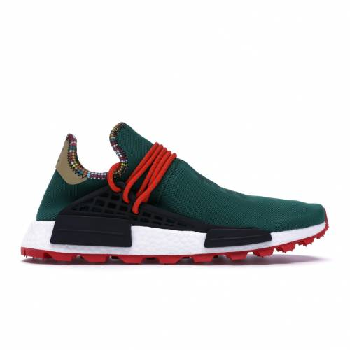 アディダス ADIDAS スニーカー 【 NMD HU PHARRELL INSPIRATION PACK GREEN CORE BLACK BOLD ORANGE 】 メンズ