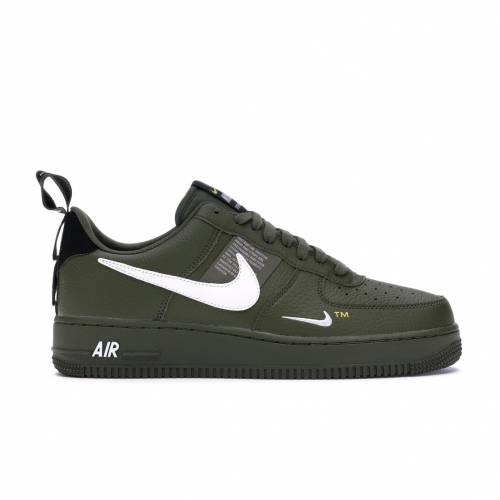 ナイキ NIKE エア オリーブ スニーカー 【 AIR OLIVE FORCE 1 LOW UTILITY CANVAS BLACKWHITETOUR YELLOW 】 メンズ