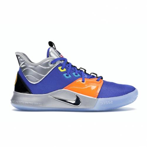 ナイキ NIKE スニーカー 【 PG 3 NASA APOLLO 14 ROYAL SILVERORANGERED 】 メンズ