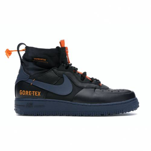 ナイキ NIKE エア ウィンター 黒 ブラック サンダー スニーカー 【 AIR BLACK FORCE 1 WINTER GORETEX BRIGHT CERAMIC THUNDER BLUE CERAMICCLEARTHUNDER 】 メンズ