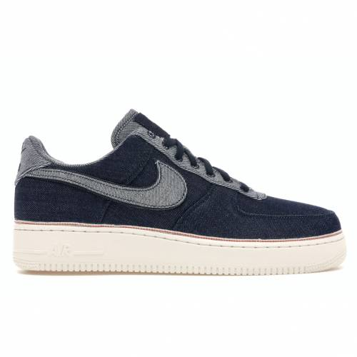 ナイキ NIKE エア デニム スニーカー 【 AIR FORCE 1 LOW 3X1 DENIM RAW INDIGO INDIGODARK OBSIDIANTOTAL ORANGESUMMIT WHITE 】 メンズ