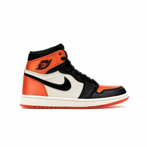 ナイキ ジョーダン JORDAN ハイ サテン レディース スニーカー 【 1 RETRO HIGH SATIN SHATTERED BACKBOARD WOMENS BLACK BLACKSTARFISHSAIL 】