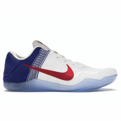 ナイキ NIKE コービー エリート スニーカー 【 KOBE 11 ELITE LOW USA WHITE UNIVERSITY REDDEEP ROYAL BLUEMETALLIC SILVER 】 メンズ