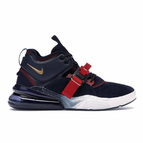 ナイキ NIKE エア スニーカー 【 AIR FORCE 270 OLYMPIC OBSIDIAN METALLIC GOLDGYM REDWHITE 】 メンズ