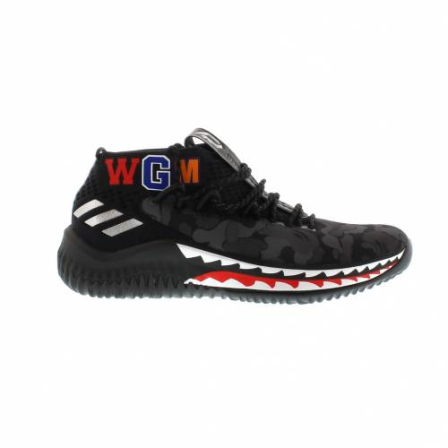 アディダス ADIDAS スニーカー 【 DAME 4 A BATHING APE BLACK GREY 】 メンズ