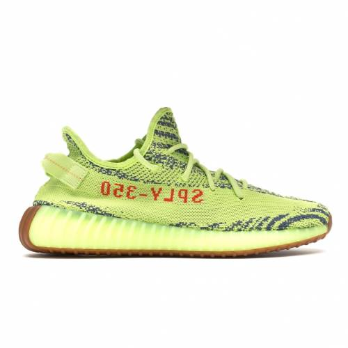 アディダス ADIDAS ブースト スニーカー 【 YEEZY BOOST 350 V2 SEMI FROZEN YELLOW RAW STEEL RED 】 メンズ