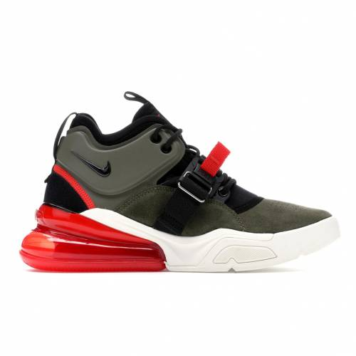 ナイキ NIKE エア スニーカー 【 AIR FORCE 270 MEDIUM OLIVE CHALLENGE RED BLACKCHALLENGE REDSAIL 】 メンズ