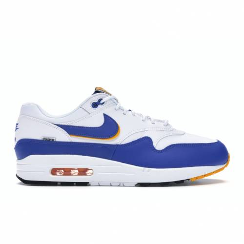 ナイキ NIKE エア マックス スニーカー 【 AIR MAX 1 SE WINDBREAKER WHITE GAME ROYALUNIVERSITY GOLDBLACK 】 メンズ