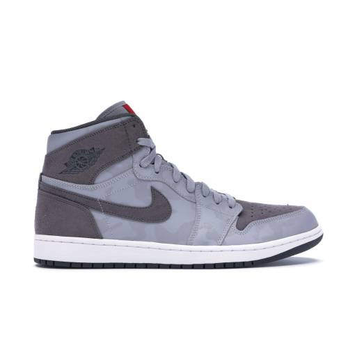 ナイキ ジョーダン JORDAN ハイ スニーカー 【 1 RETRO HIGH CAMO 3M WOLF GREY DARK GREYWHITEUNIVERSITY RED 】 メンズ