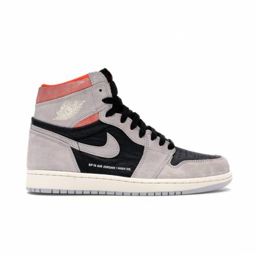 ナイキ ジョーダン JORDAN ハイ 灰色 グレ スニーカー 【 1 RETRO HIGH NEUTRAL GREY HYPER CRIMSON BLACKHYPER CRIMSONWHITE 】 メンズ