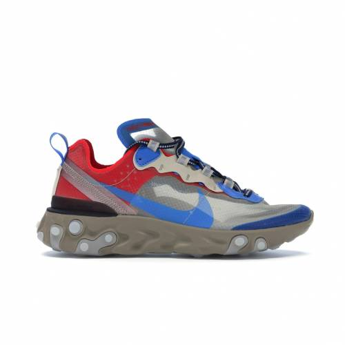 ナイキ NIKE エレメント スニーカー 【 REACT ELEMENT 87 UNDERCOVER LIGHT BEIGE CHALK BIEGE SIGNAL BLUE 】 メンズ