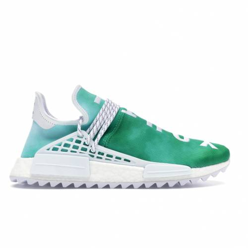 アディダス ADIDAS 子供用 スニーカー 【 PHARRELL NMD HU CHINA PACK YOUTH GREEN WHITE 】 メンズ