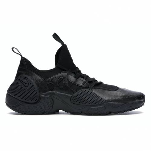 ナイキ NIKE ハラチ レザー E.D.G.E. スニーカー 【 HUARACHE LEATHER TRIPLE BLACK BLACKBLACK 】 メンズ