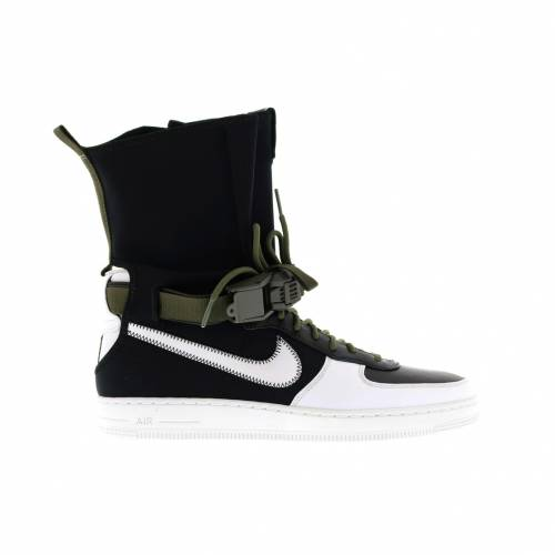 ナイキ NIKE エア 黒 ブラック スニーカー 【 AIR BLACK FORCE 1 DOWNTOWN ACRONYM WHITE WHITEMEDIUM OLIVE 】 メンズ