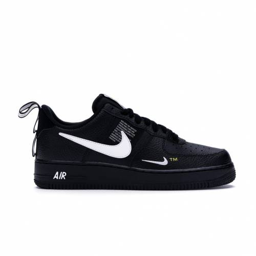 ナイキ NIKE エア 黒 ブラック スニーカー 【 AIR BLACK FORCE 1 LOW UTILITY WHITE WHITEBLACKTOUR YELLOW 】 メンズ