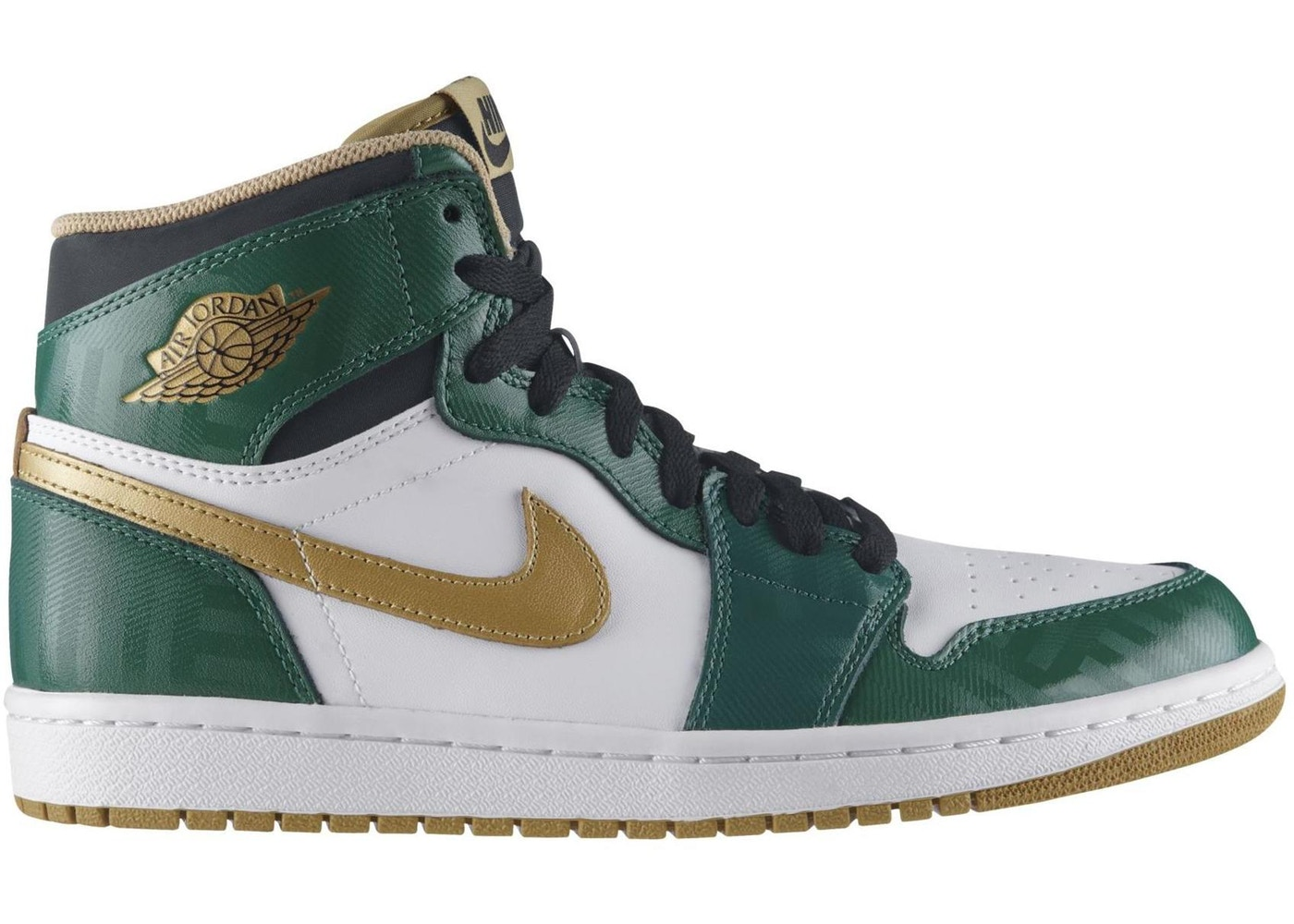 ナイキ ジョーダン JORDAN スニーカー 【 1 OG CELTICS CLOVER METALLIC GOLD WHITE BLACK 】 メンズ