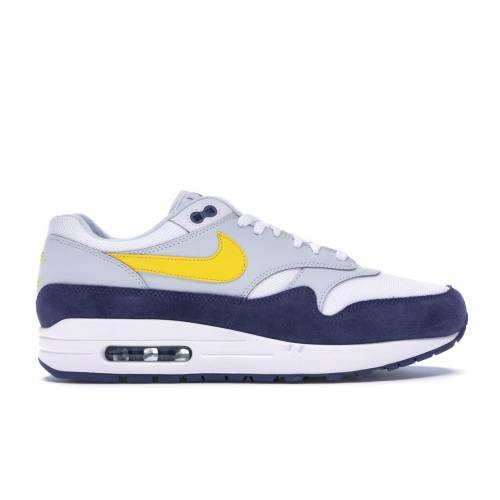 ナイキ NIKE エア マックス 青 ブルー スニーカー 【 AIR BLUE MAX 1 RECALL WHITE RECALLPURE PLATINUMTOUR YELLOW 】 メンズ