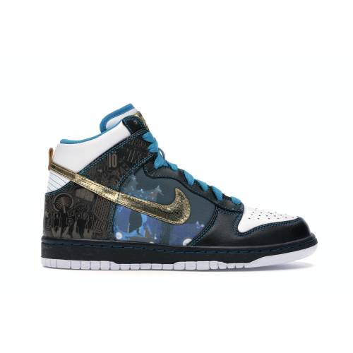 ナイキ NIKE ダンク ハイ スニーカー 【 DUNK HIGH DUBAI BLACK WHITEGOLD LEAFTURQUOISE 】 メンズ