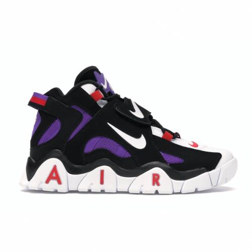 ナイキ NIKE エア ミッド スニーカー 【 AIR BARRAGE MID RAPTORS BLACK WHITEHYPER GRAPEUNIVERSITY RED 】 メンズ