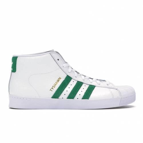 アディダス ADIDAS プロ スニーカー 【 PRO MODEL VULC ADV TYSHAWN JONES FOOTWEAR WHITE GREEN 】 メンズ