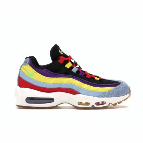 ナイキ NIKE エア マックス スニーカー 【 AIR MAX 95 SP MULTICOLOR PSYCHIC BLUE CHROME YELLOW 】 メンズ