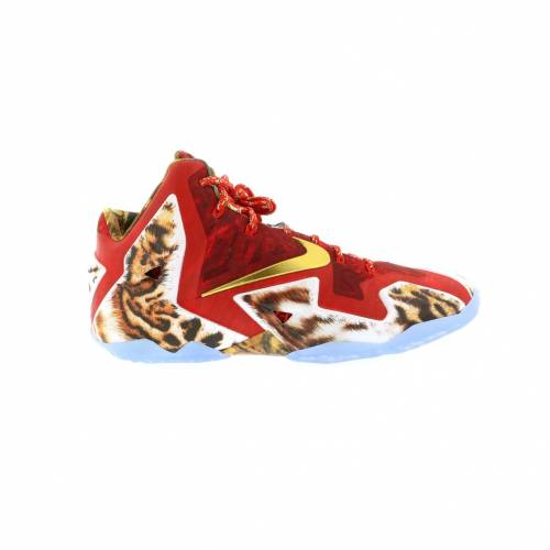 ナイキ NIKE レブロン スニーカー 【 LEBRON 11 NBA 2K14 CHALLENGE RED METALLIC GOLDIC 】 メンズ
