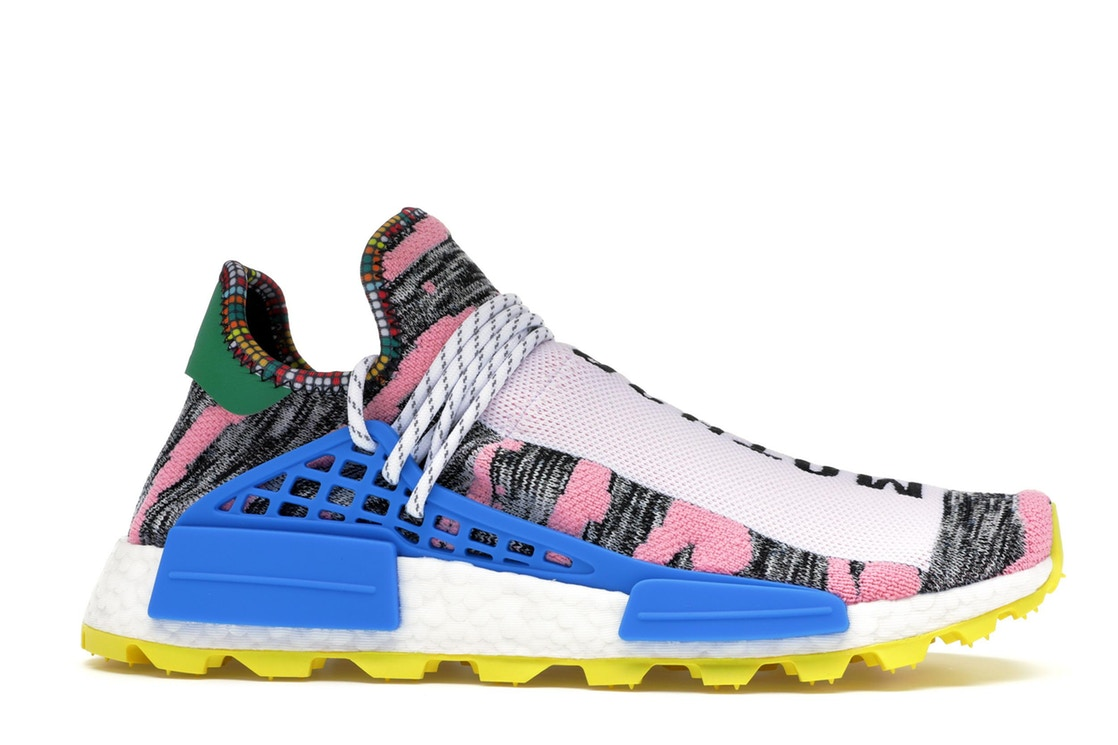 アディダス ADIDAS スニーカー 【 NMD HU PHARRELL SOLAR PACK MOTHER WHITE PINK YELLOW 】 メンズ 送料無料